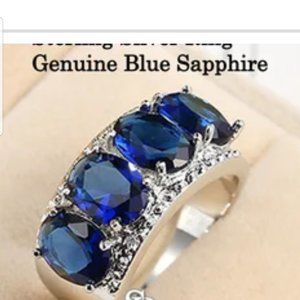Unbranded Jewelry - Genuine Blue Sapphire Ring
